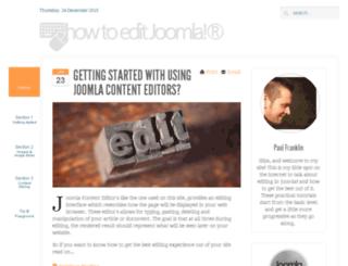 howtoeditjoomla.com screenshot