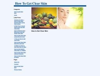 howtogetclearskin.com screenshot