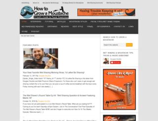 howtogrowamoustache.com screenshot