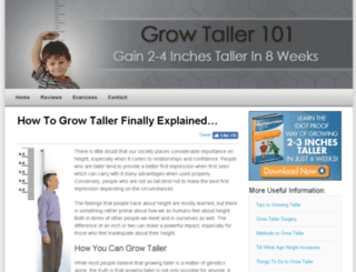 howtogrowtaller101.com screenshot