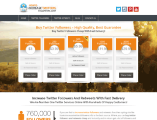 howtoincreasetwittersfollowers.info screenshot