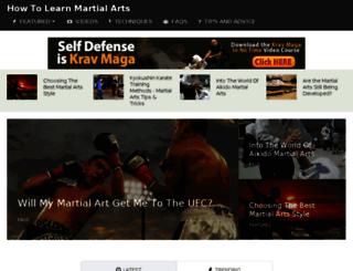 howtolearnmartialarts.com screenshot