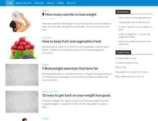 howtoloseweighthealthy.com screenshot