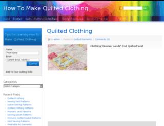 howtomakequiltedclothing.info screenshot