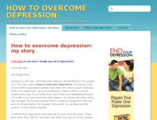 howtoovercomedepressioninfo.org screenshot