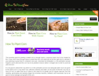 howtoplantcorn.com screenshot