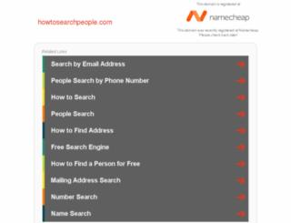 howtosearchpeople.com screenshot