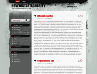 howtostartacharity.wordpress.com screenshot