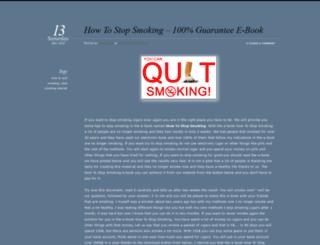 howtostopsmokingtutorial.wordpress.com screenshot