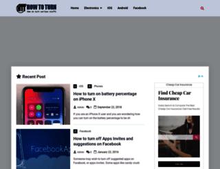 howtoturn.com screenshot
