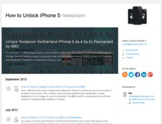 howtounlockiphone5.pr.co screenshot