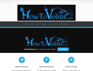 howtovanish.com screenshot