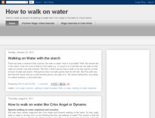 howtowalkonwater.blogspot.com screenshot