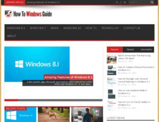 howtowindowsguide.com screenshot