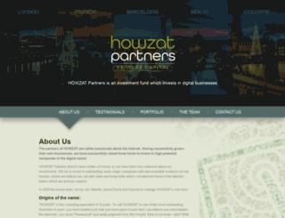 howzatpartners.com screenshot
