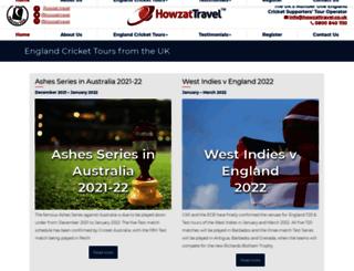 howzattravel.co.uk screenshot