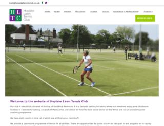 hoylaketennisclub.co.uk screenshot