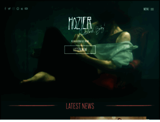 hozier.com screenshot