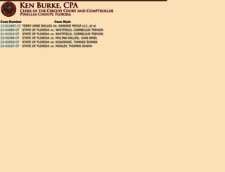 hpc.pinellasclerk.org screenshot