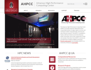 hpc.uark.edu screenshot
