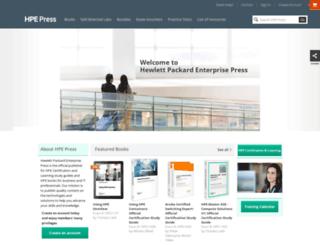 hpepress.hpe.com screenshot