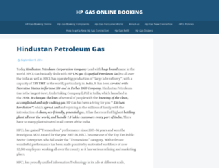 hpgasonlinebooking.wordpress.com screenshot