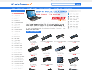 hplaptopbattery.co.uk screenshot