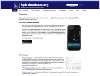 hplcsimulator.org screenshot