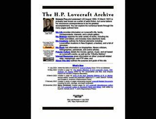 hplovecraft.com screenshot