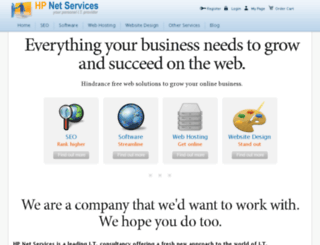 hpnetservices.com screenshot
