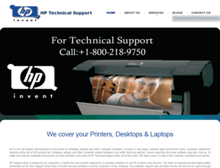 hpsupportnumber.com screenshot
