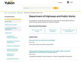 hpw.gov.yk.ca screenshot