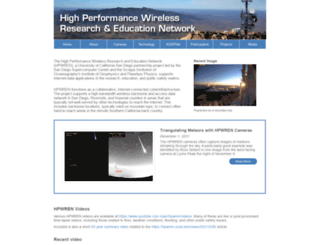 hpwren.ucsd.edu screenshot