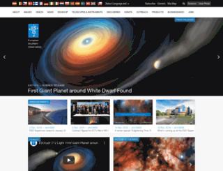 hq.eso.org screenshot
