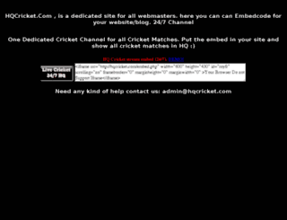 hqcricket.com screenshot