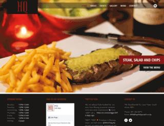 hqrestaurant.co.za screenshot