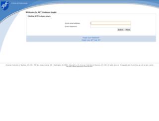 hqsecure.aft.org screenshot