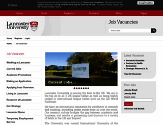 hr-jobs.lancs.ac.uk screenshot
