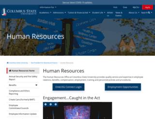 hr.columbusstate.edu screenshot