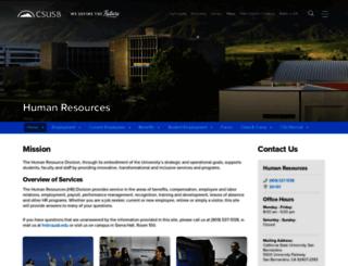hr.csusb.edu screenshot