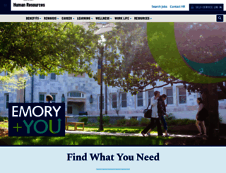 hr.emory.edu screenshot