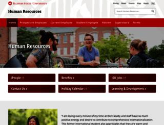 hr.ilstu.edu screenshot