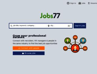 hr.jobs77.com screenshot