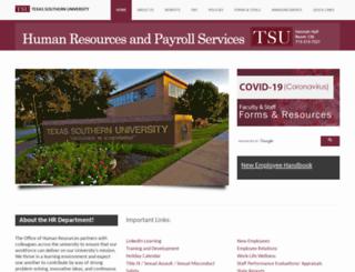 hr.tsu.edu screenshot