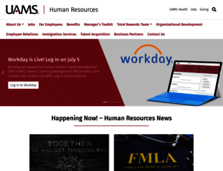 hr.uams.edu screenshot