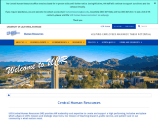 hr.ucr.edu screenshot