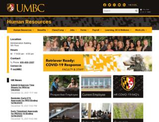 hr.umbc.edu screenshot