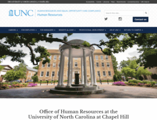 hr.unc.edu screenshot