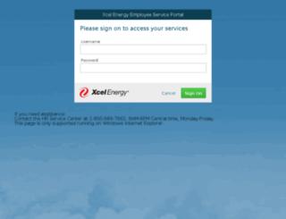 hr.xcelenergy.com screenshot