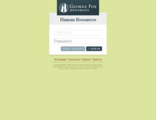 hr92prd.georgefox.edu screenshot